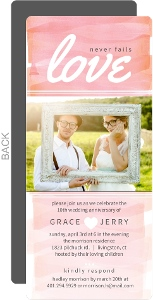 Pink Ombre Love 10Th Anniversary Invitation