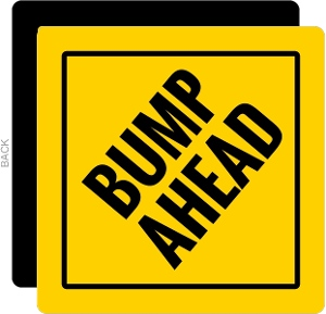 Yellow & Black Bump Ahead Pregnancy Announcement