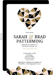 Geometric Heart 10th Wedding Anniversary Invitation