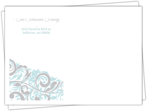Joyeux Noel Winter Swirls Custom Envelope