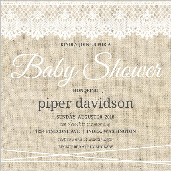 Girls Baby Shower Invitations