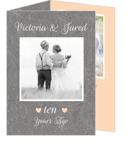 Simple Gray Photo Anniversary Invite - 3917