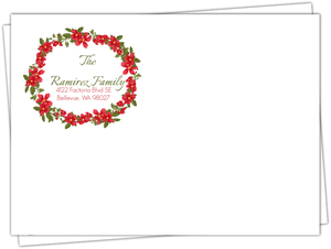 Red Retro Poinsettia Custom Envelope