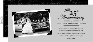 Vintage Black And Gray Photo Frame Set Silver Anniversary Invitation