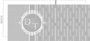 Delicate Gray Vintage Style Silver Anniversary Invitation