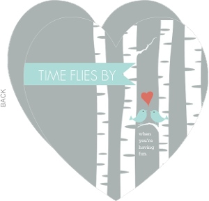 Time Flies By Silver Anniversary Invitation