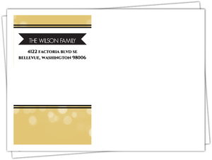 Golden Lights Custom Envelope