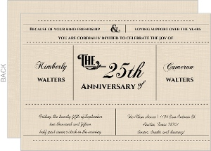 Western Love Anniversary Invitation - 3970