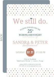 We Still Do Faux Glitter Decor Anniversary Invitation
