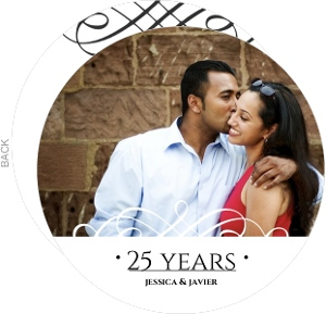 Classic Black And White Circle Wedding Anniversary Invite