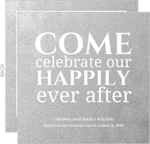 Silver happily ever after anniversary party invita 3971 0 big