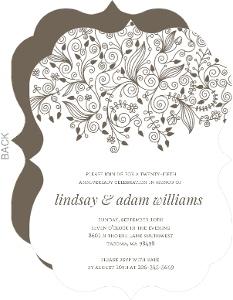 Elegant And Simple Anniversary Invite - 3973