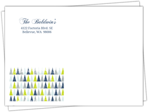 Festive Geometric Trees Custom Envelope