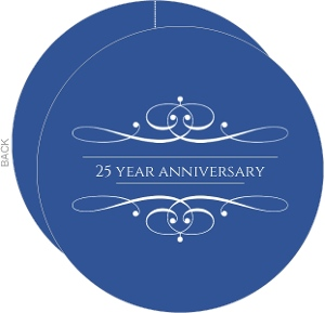 Elegant Blue Wedding Anniversary Invitation