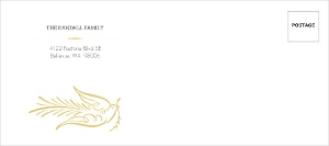 Elegant Gray And Gold Dove Custom Envelope