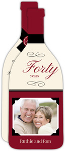 Elegant Wine Toast 40Th Anniversary Invitation