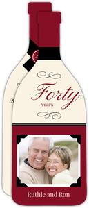 Elegant Wine Toast 40th Anniversary Invitation