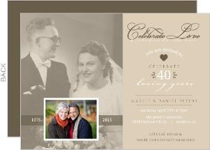 Vintage Flashback 40Th Anniversary Invitation