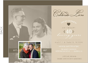 Vintage Flashback 40th Anniversary Invitation