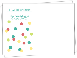 Merry Bright Dots Custom Envelope