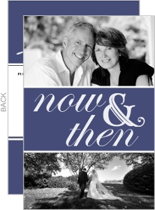 Now And Then Photo 40Th Anniversary Party Invitation