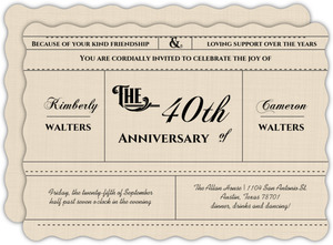 Western Love Anniversary Invitation - 4023