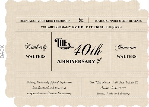 Western Love Anniversary Invitation