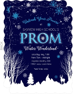 Winter Wonderland Prom Invitation
