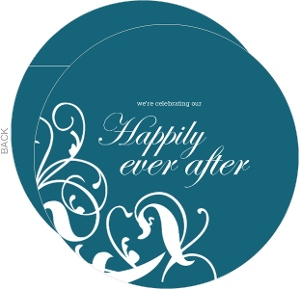 Whimsical Teal Happily Ever After Anniversary Party Invitation