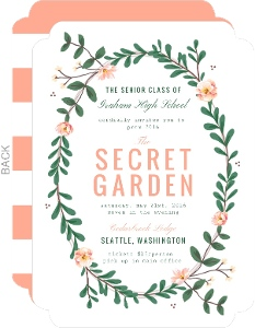Spring Greenery Florals Prom Invitation