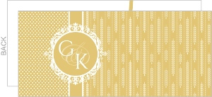 Vintage Pattern Golden Anniversary Invitation