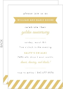 Modern Golden Anniversary Invitation