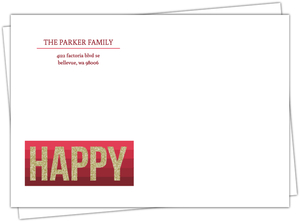 Modern Crimson Striped Envelope
