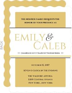 Classic Golden  Anniversary Invitation