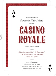 Deck Of Cards Casino Prom Invitation