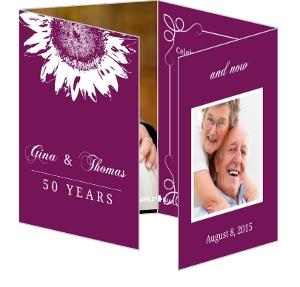 Purple And White Sunflower Anniversary Invitation - 4070