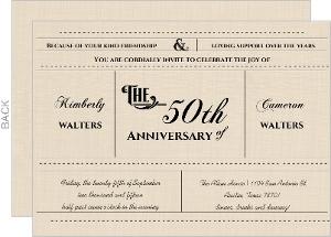 Western Love Anniversary Invitation - 4062