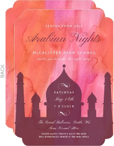 Bright Colors Arabian Nights Prom Invitation