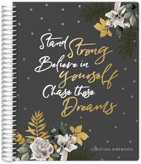 Gold Leaves Floral Student Planner