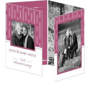 Hanging Willow Pink and White 50th Anniversary Invitation
