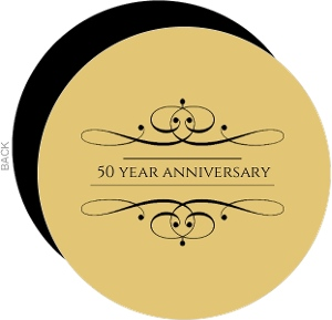 Elegant Gold 50Th Wedding Anniversary Invitation