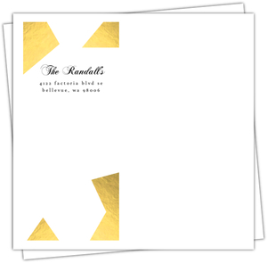 Peace Geometric Gold Foil Custom Envelope