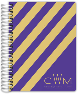 Striped School Colors Custom Student Planner