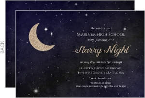 Starry Night Prom Invitation