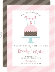 Sweet Treat Kids Birthday Party Invitation