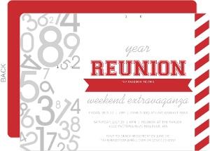 Modern Numbers Class Reunion Invitation