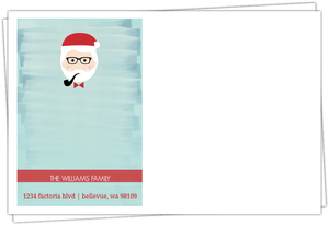 Blue Water Color Santa Envelope