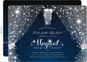 Magical Night Crystal Prom Invitation
