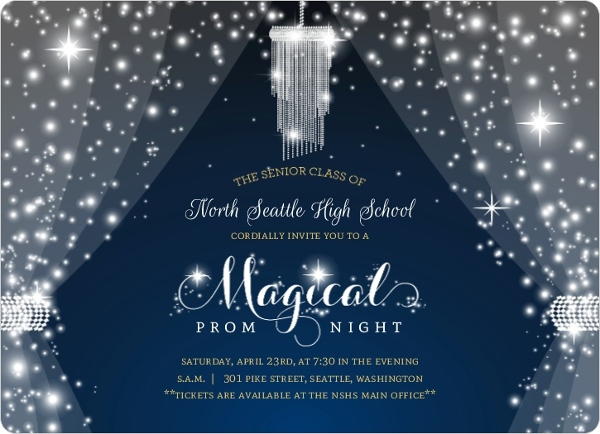Magical Night Crystal Prom Invitation Prom Invitations
