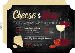 Cheese Wine Family Reunion Invitation